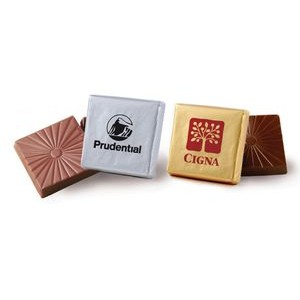 Chocolate Candy Square w/ Custom Imprint on Foil